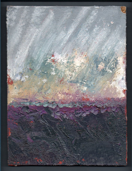 oil paint on board 6 x 8 inches