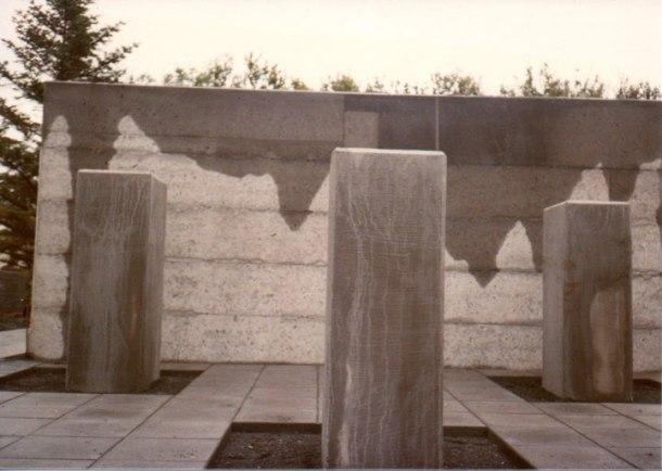 sculpture garden in Iceland before the sculpture was installed.