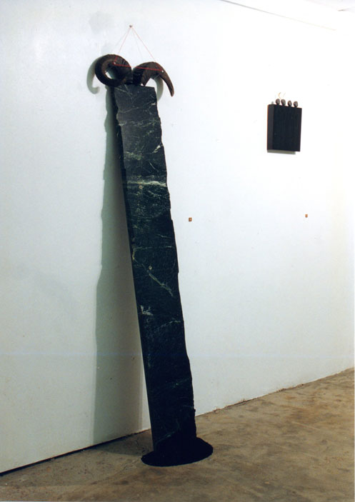 sculptures from the show at Gallery 96