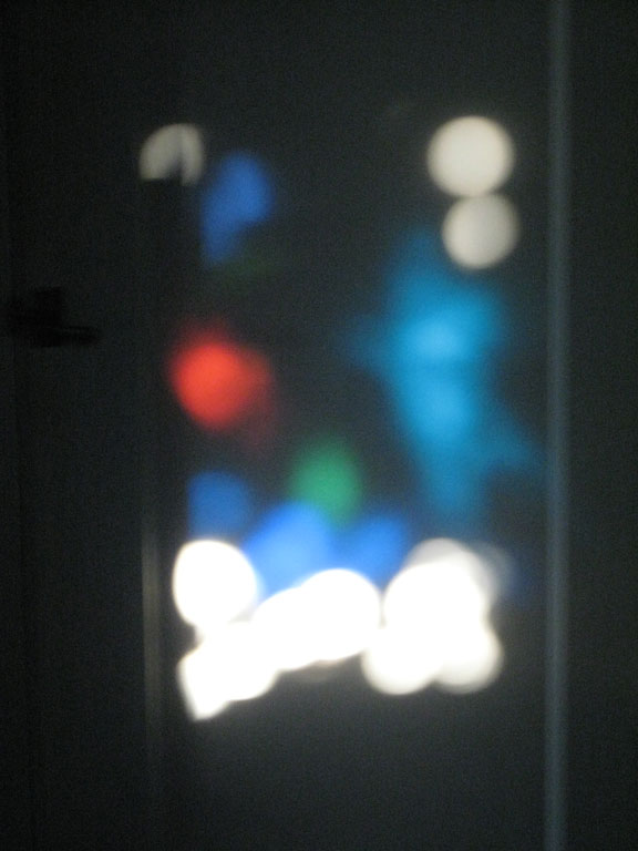 light play on the cupboard door